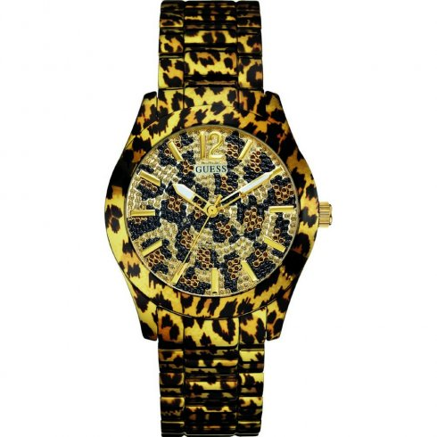 Guess Fierce gold dial stainless steel bracelet Ladies watch W0001L2