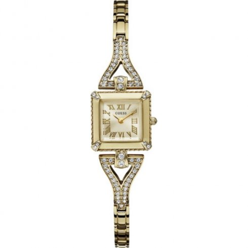 Guess Flawless champagne dial stainless steel bracelet Ladies watch W0137L2