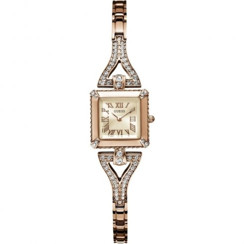 Guess Flawless rose gold dial stainless steel bracelet Ladies watch W0137L3