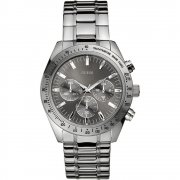 Guess Chase Chronograph Grey Dial Stainless Steel Bracelet Mens Watch W13001G1