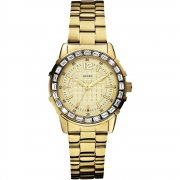 Guess Girly B gold dial stainless steel bracelet Ladies watch W0018L2