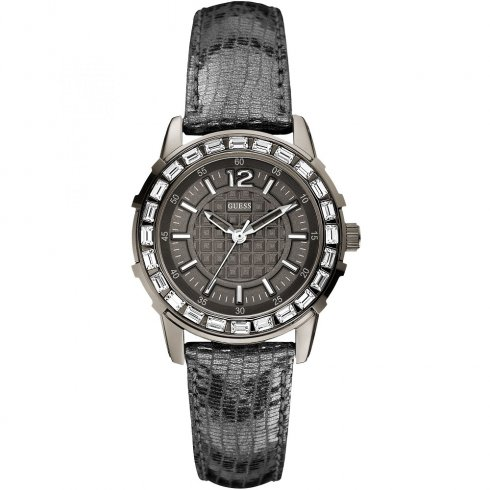 Guess Girly B grey dial leather strap Ladies watch W0019L2