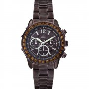 Guess Lady B brown dial chronograph stainless steel bracelet Ladies watch W0016L4
