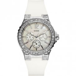 Guess Overdrive White Dial Resin Strap Ladies Watch W14555L1