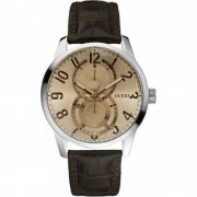 Guess Inner Circle brown dial leather strap Mens watch W95127G2