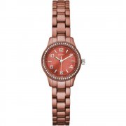 Guess Micro Mini Orange Dial Aluminium Bracelet Ladies Watch W80074L3