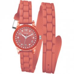 Guess Micro Mini orange dial rubber strap Ladies watch W65023L4