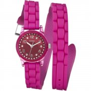 Guess Micro Mini pink dial rubber strap Ladies watch W65023L3
