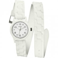 Guess Micro Mini white dial rubber strap Ladies watch W65023L1
