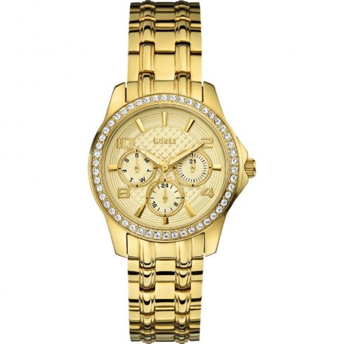 Guess Mini Exec gold dial stainless steel bracelet Ladies watch W0403L2