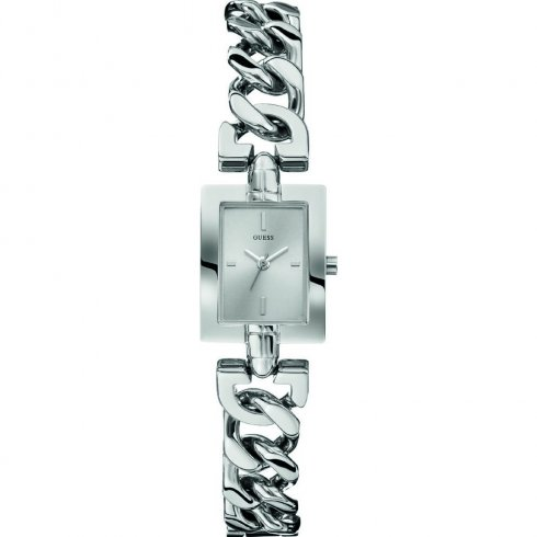 Guess Mod silver dial stainless steel bracelet Ladies watch W0437L1