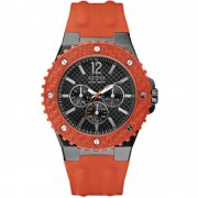 Guess Overdrive black dial resin strap Mens watch W11619G4