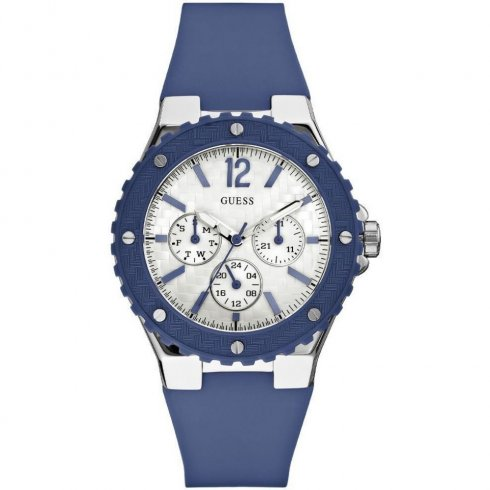 Guess Overdrive blue dial rubber strap Ladies watch W90084L3