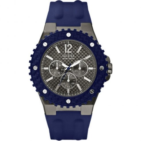 Guess Overdrive grey dial rubber strap Mens watch W11619G2