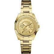 Guess Phantom gold dial stainless steel bracelet Ladies watch W0235L5
