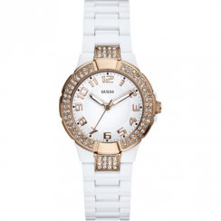 Guess Prism white dial resin bracelet Ladies watch W12649L1