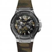 Guess Rigor multi coloured dial fabric strap Mens watch W0407G1