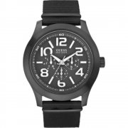 Guess Rugged black dial fabric strap Mens watch W11623G1