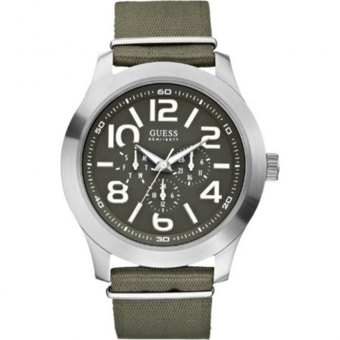 Guess Rugged grey dial stainless steel strap Mens watch W10617G1