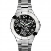 Guess Rush Black Dial Stainless Steel Bracelet Mens Watch I90199G3