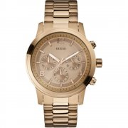 Guess Spectrum rose gold dial chronograph stainless steel bracelet Ladies watch W17004L1