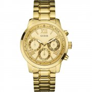 Guess Sunrise gold dial stainless steel bracelet Ladies watch W0330L1