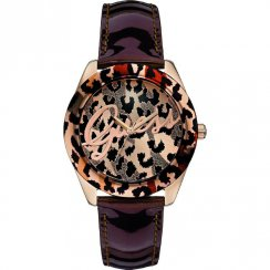 Guess Temptress multi coloured dial leather strap Ladies watch W0455L3
