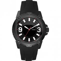 Guess Verve black dial rubber strap Mens watch W10251G1