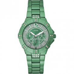 Guess Vista green dial stainless steel bracelet Ladies watch W11624L6