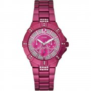 Guess Vista pink dial stainless steel bracelet Ladies watch W11624L4