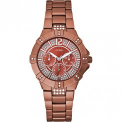 Guess Vista red dial stainless steel bracelet Ladies watch W11624L5