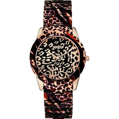 Guess Vixen multi coloured dial polycarbonate bracelet Ladies watch W0425L3
