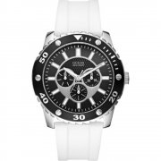 Guess Web black dial rubber strap Mens watch W10616G2