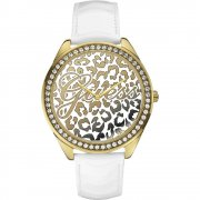 Guess Wild One multi coloured dial leather strap Ladies watch W0346L1