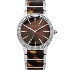 Karen Millen Brown Dial Tortoise Inlay Bracelet Ladies Watch KM128SM