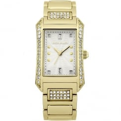 Karen Millen White Dial Gold Bracelet Ladies Watch KM111GM