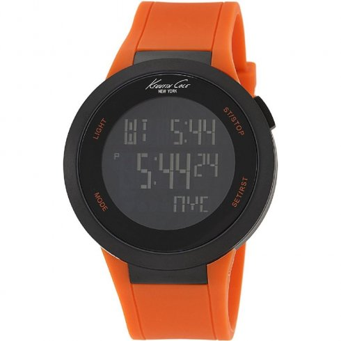 Kenneth Cole Digi Touch lcd dial chronograph rubber strap Mens watch KC1665