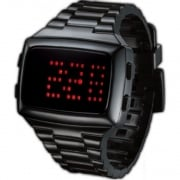 L.E.D. Digital Chronograph Black Resin Strap Watch L69-098RD-BPU
