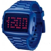 L.E.D. Digital Chronograph Blue Resin Strap Watch L69-098RD-IPU