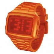 L.E.D. Digital Chronograph Orange Resin Strap Watch L69-098RD-OPU