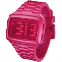 L.E.D. Digital Chronograph Pink Resin Strap Watch L69-098RD-HPU