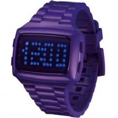 L.E.D. Digital Chronograph Purple Resin Strap Watch L69-098BL-PPU
