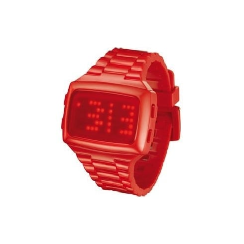 L.E.D. Digital Chronograph Red Resin Strap Watch L69-098RD-RPU