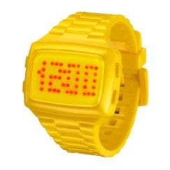 L.E.D. Digital Chronograph Yellow Resin Strap Watch L69-098RD-YPU