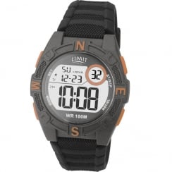 Limit Active Digital Chronograph Black Silicon Strap Children Watch 5695