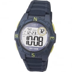 Limit Active Digital Chronograph Blue Silicon Strap Children Watch 5696
