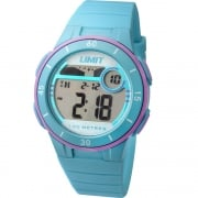 Limit Active Digital Chronograph Turquoise Resin Strap Unisex Watch 5558