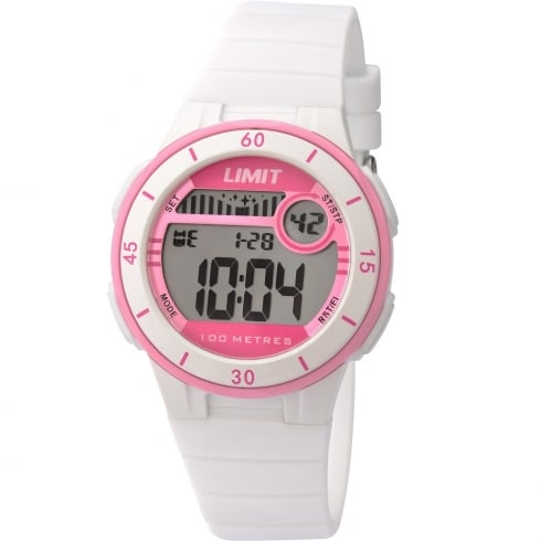 Limit Active Digital Chronograph White Resin Strap Unisex Watch 5555
