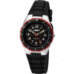 Limit Active Kids Black Dial Black Resin Strap Children Watch 5586