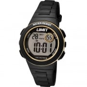 Limit Active Kids Digital Chronograph Black Resin Strap Children Watch 5583